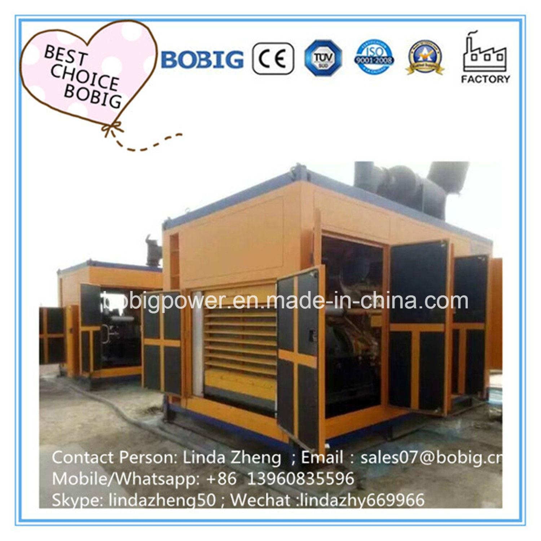 China 30kw to 500kw Biogas Methane Gas Generator Open Silent Type