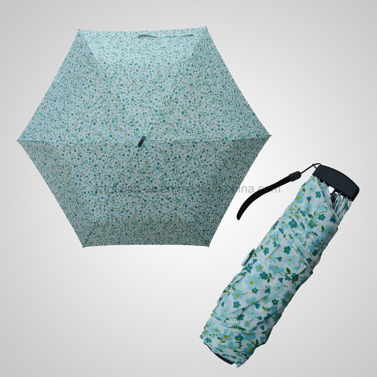 3 Fold Manual Open Mini Flat Fashion Advertising and Promotional Umbrella (JF-MPC301)