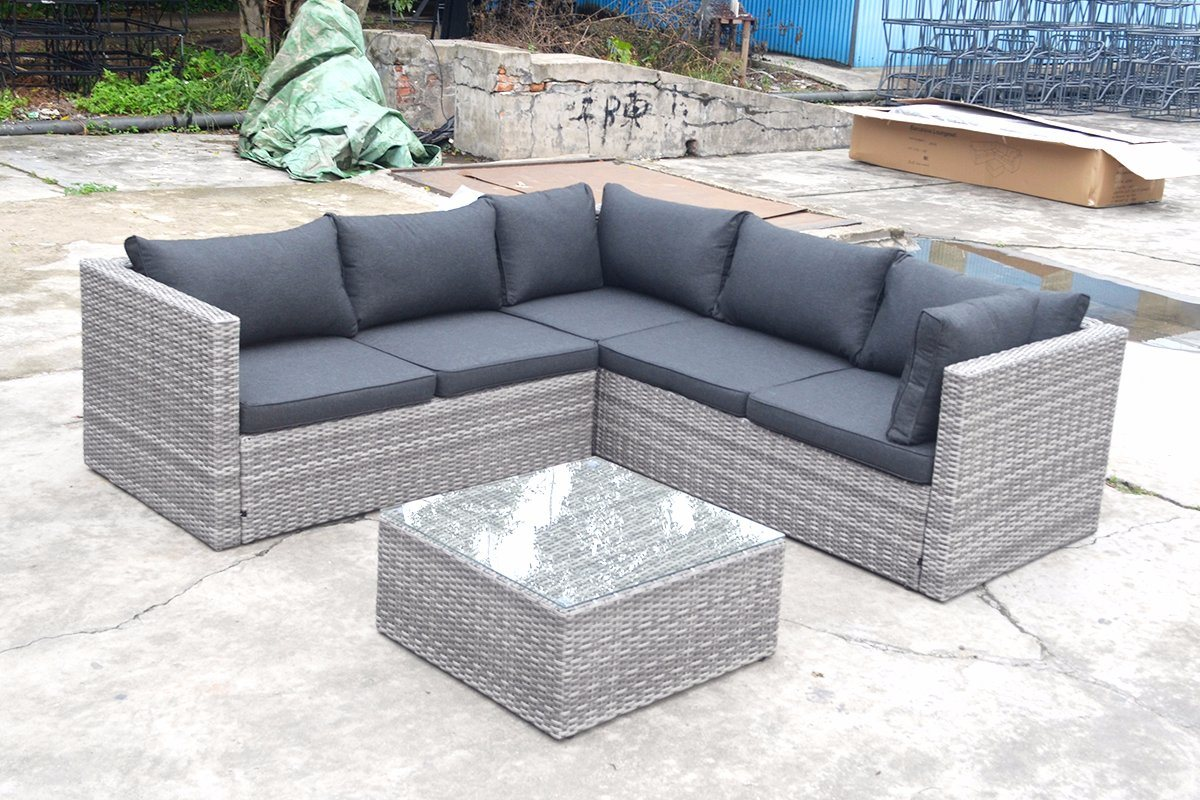 Modern Patio Outdoor Garden Leisure Flat Wicker Aluminum Offce Home Hotel Sofa (J721KD)
