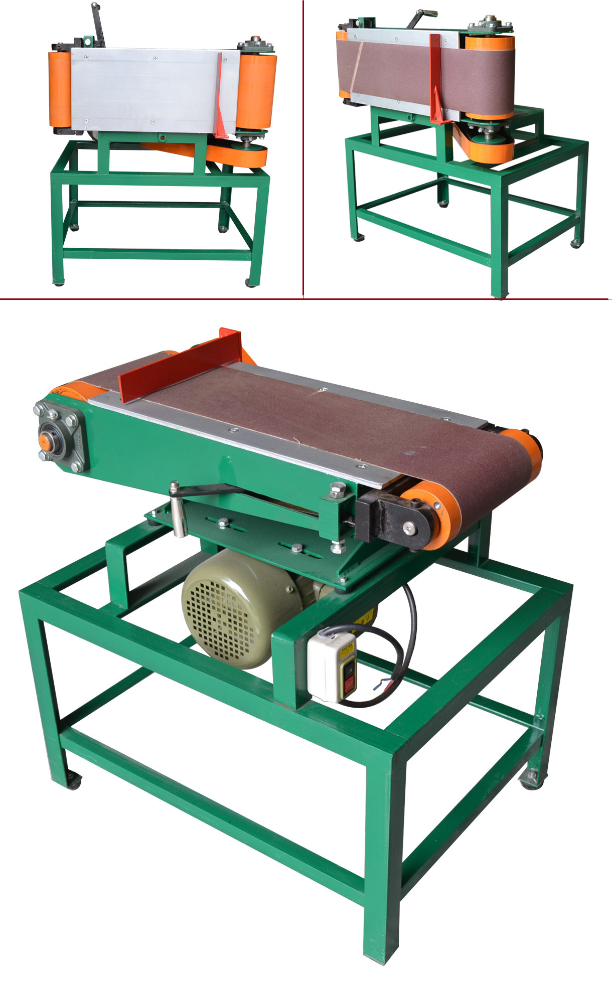 1524mm*180mm Wood Pieces Small Sanding Belt Machine