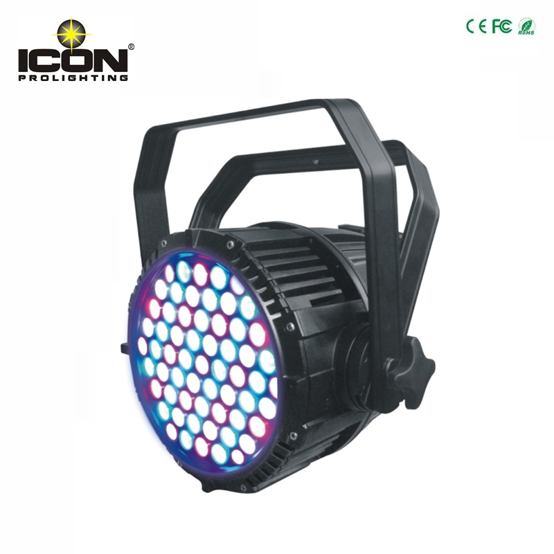 New 54X3w RGBW Waterproof LED PAR Light for Outdoor Lighting