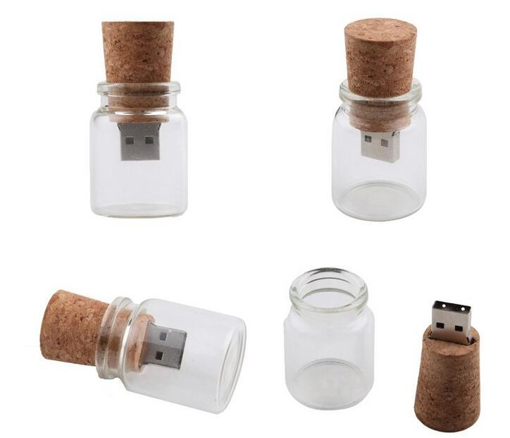 Floating Bottle Pendrive Wish Bottles USB Flash Memory Stick