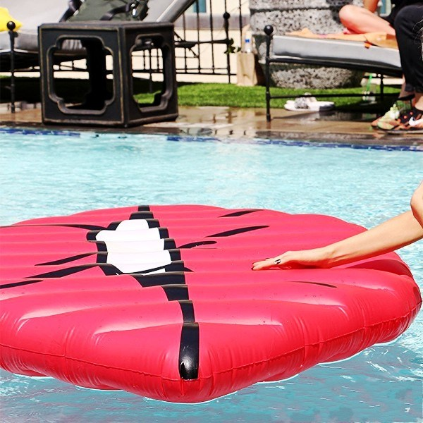 2017 New Inflatable Sexy Red Lip Mouth Pool Float