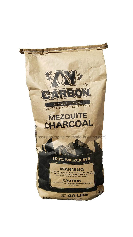 Customized Printing Brown Kraft Charcoal Paper Bags