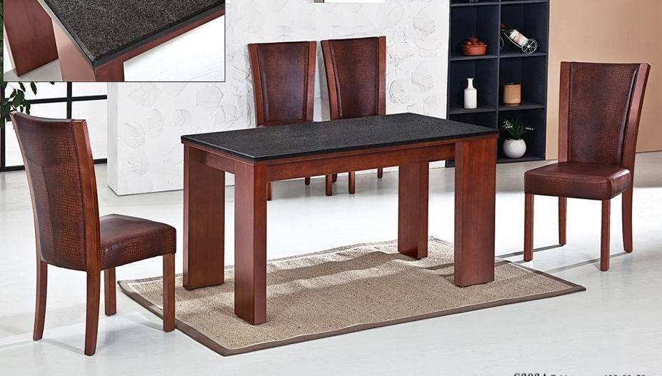 China Granite Dining Table Set China Rubber Wood Dining Table Dining Chair