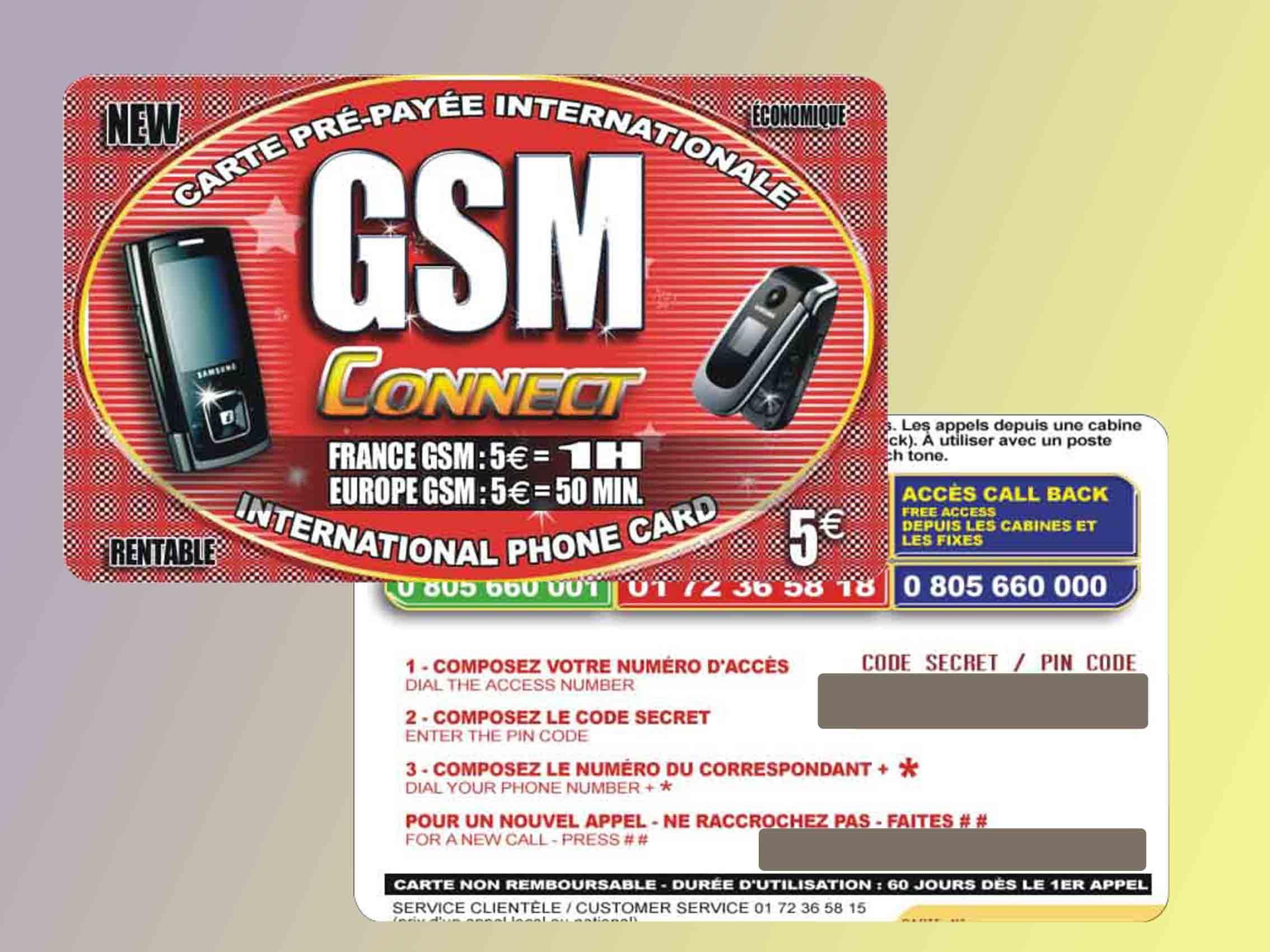 pre paid phone cards: