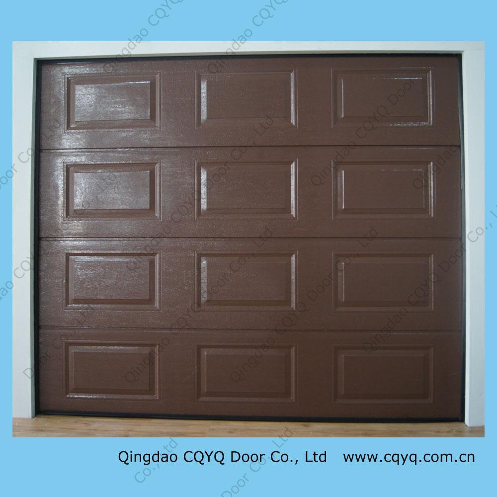 China residential garage doors wood colour