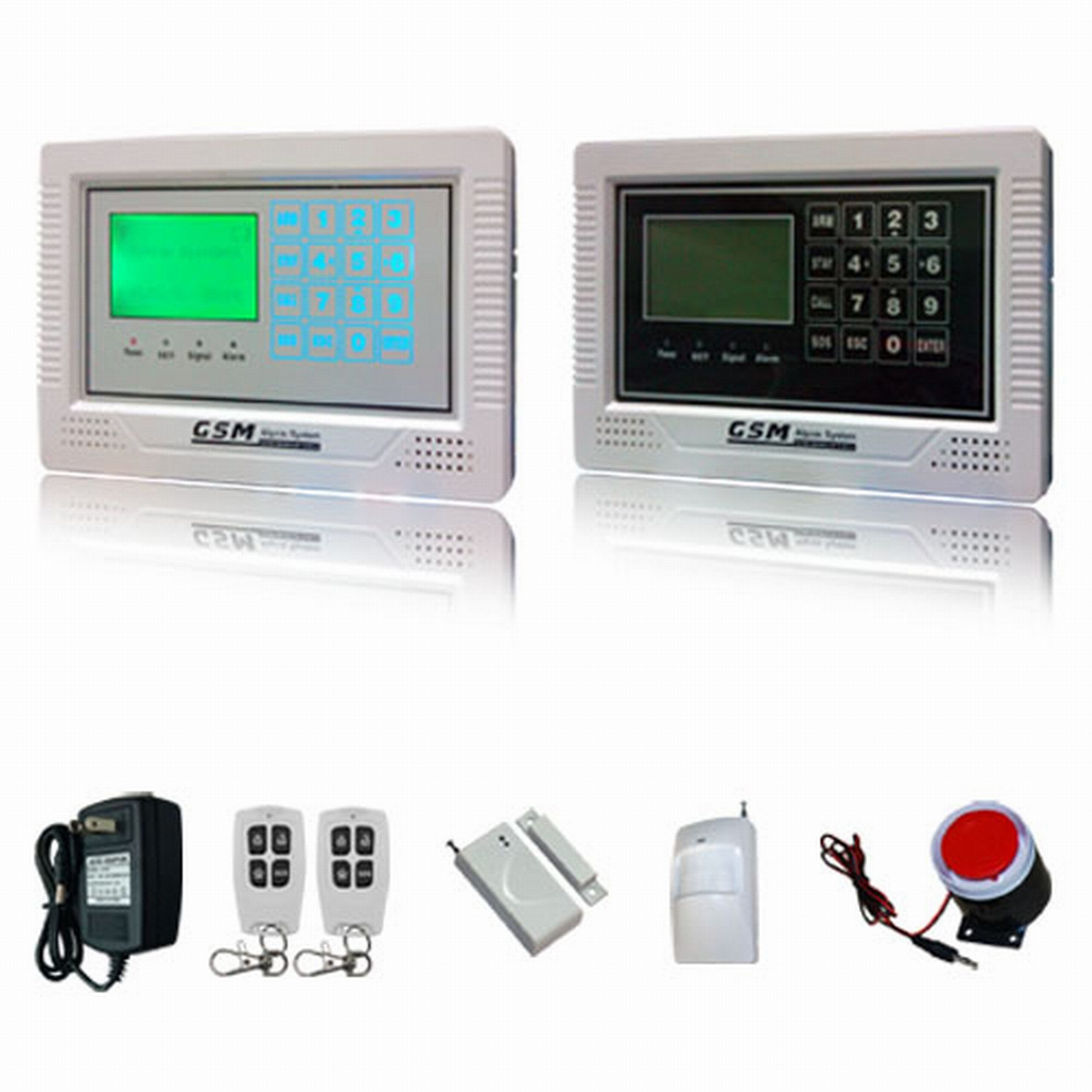 SMS GSM Auto Dial Burglar Alarm with Touch Keypad (ES-2040GSM-A)