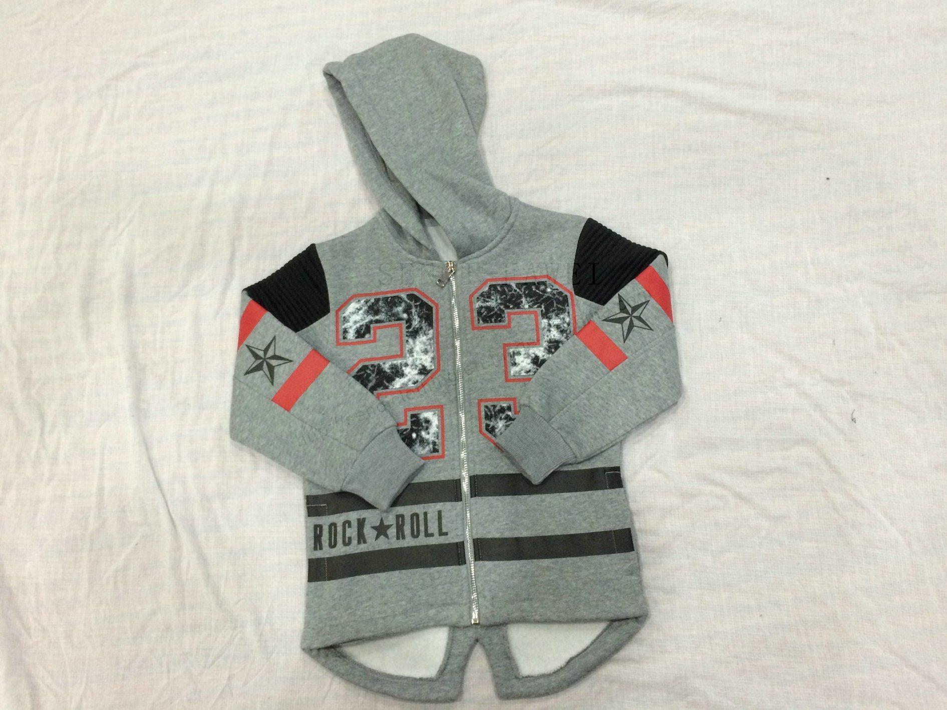 Boy Children Longline Sport Hoodies Clothes Sq-6708