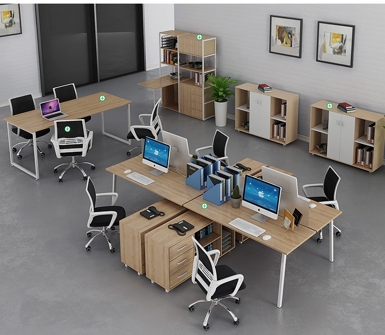 Modern Furniture Two-Person Office Desk with Drawer for Office Workstation