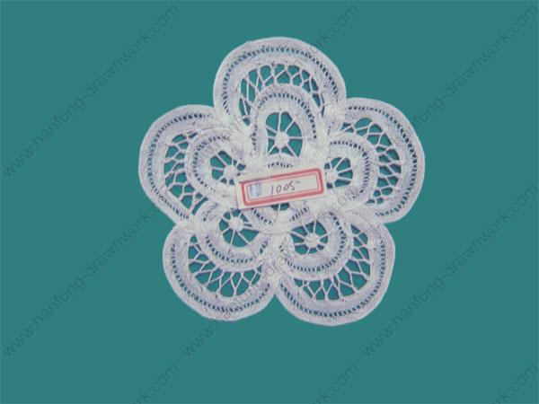Tablecloth - Linen Fabric, cotton fabric, crochet, battenburg