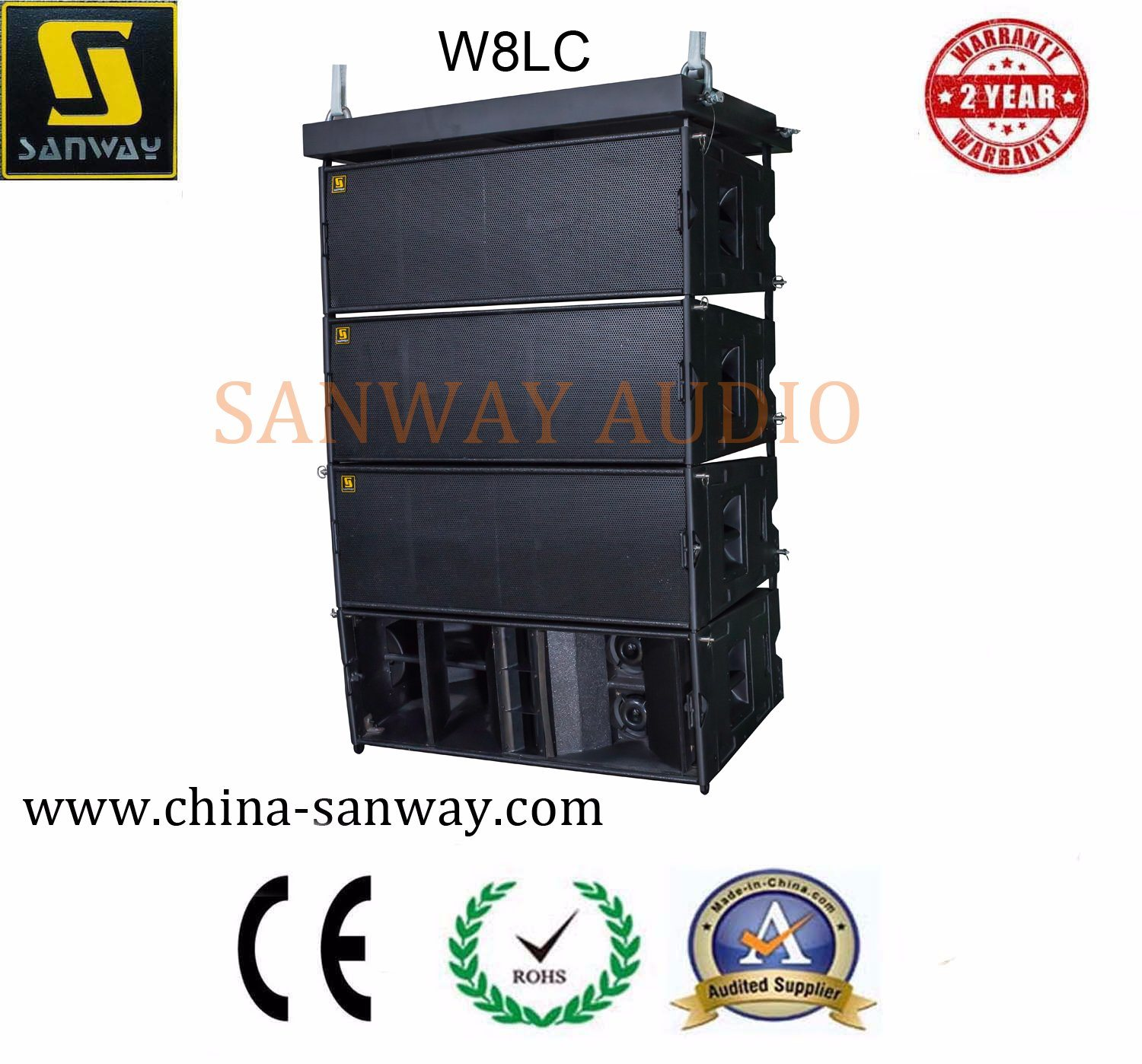 W8LC 3-Way High Power Speaker Professional Line Array, PRO Audio PA System