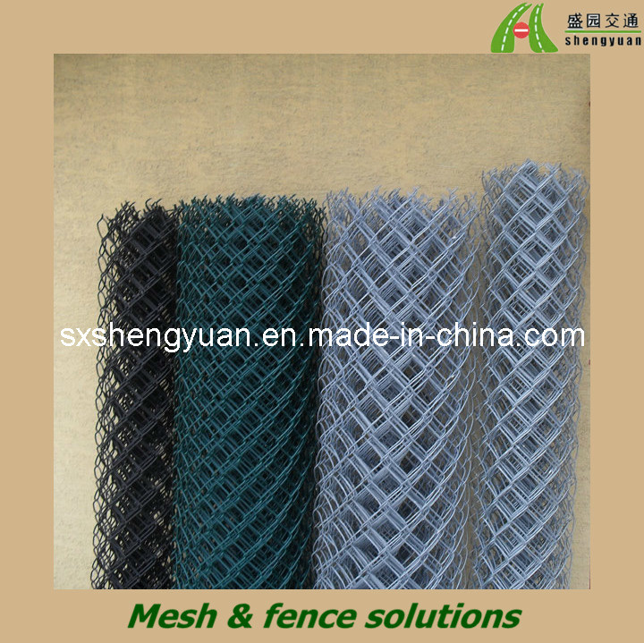China diamond wire mesh fence roll plastic coated chain