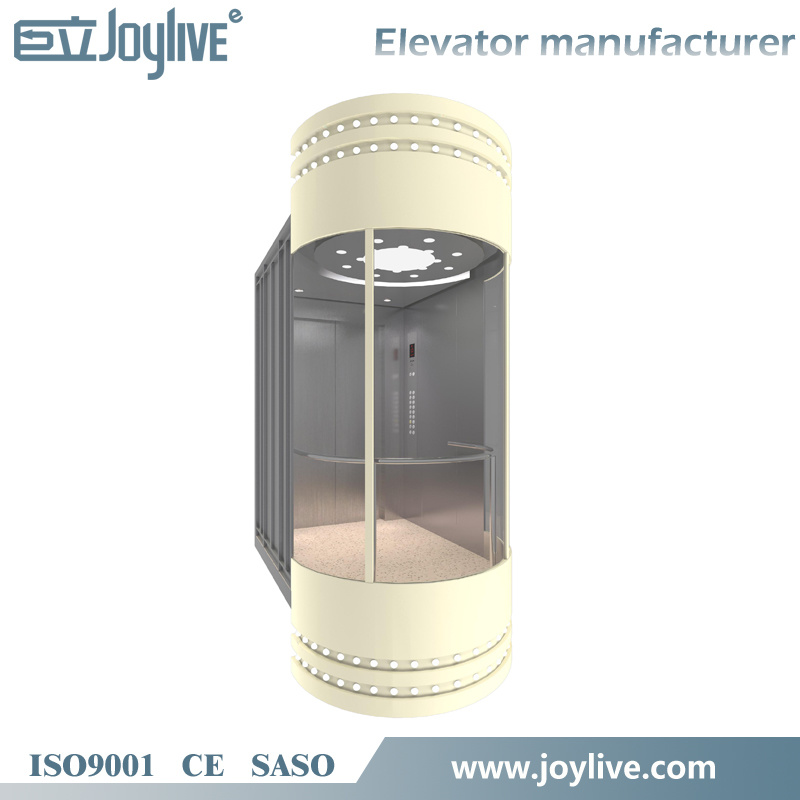 Joylive Panoramic Lift Elevator with Machine Room