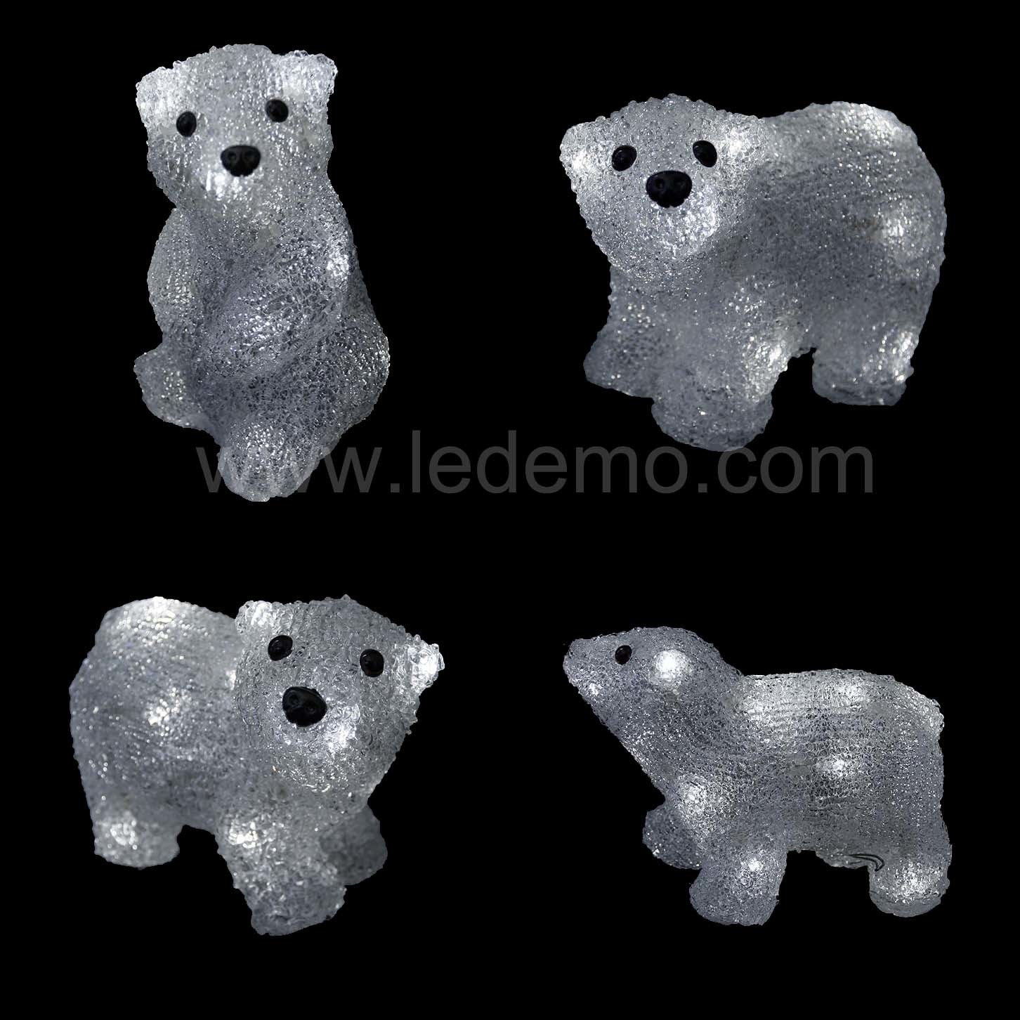 LED Acrylic Decorative USB Bear Light