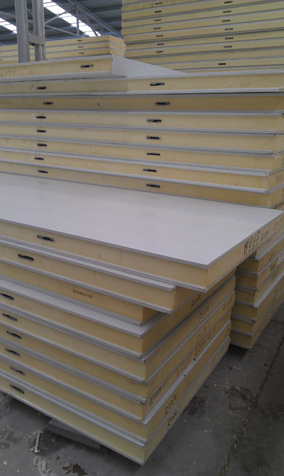 CE Certificate PU Sandwich Panel for Freezing Shrimp