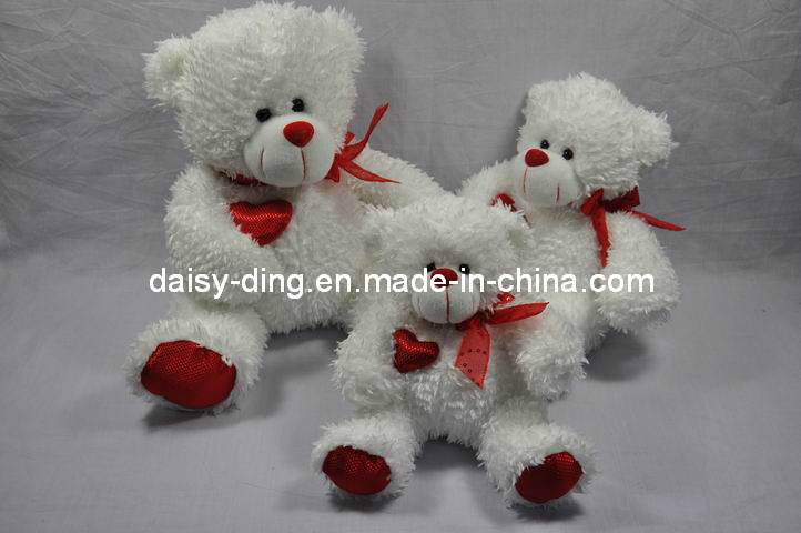 3 Sizes Plush Valentine Sitting Bears with Soft Material (only skin is avaliable)