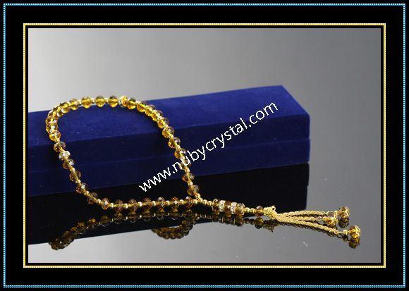 33 PCS Islam Amber Crystal Rosary
