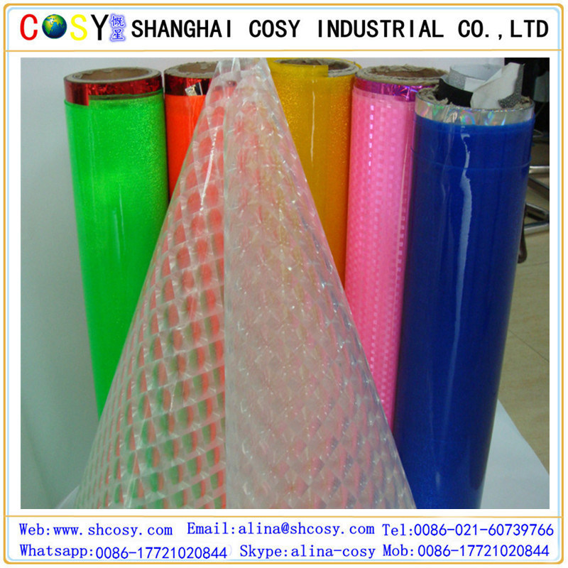 PVC Cold Laminating Film with Glossy Face for Exterior Decoration