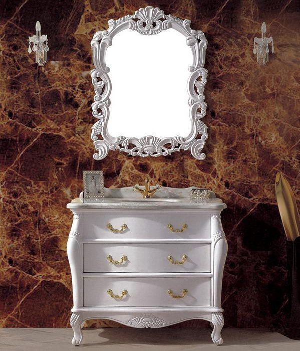 Solid Wood Classical Bathroom Furniture (ADS-634)