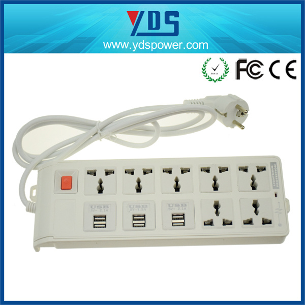 6 Port Travel USB Outlet Power Strip with Long Cord