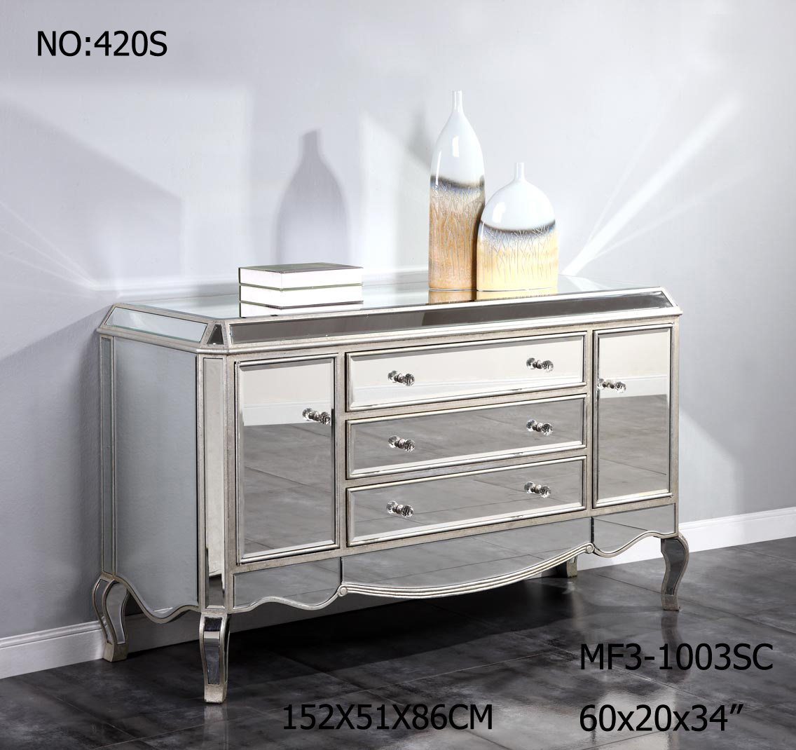 Big Storage Customized Mirrored Dresser for Bedroom