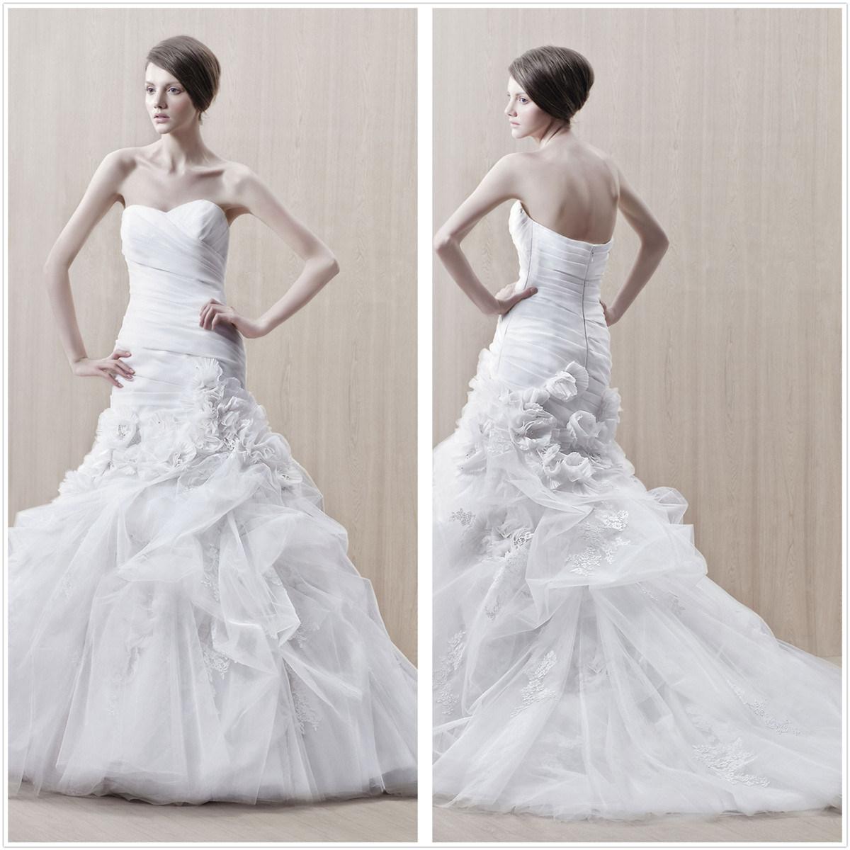 Mermaid Ruffle Skirt Wedding Dress XZ074