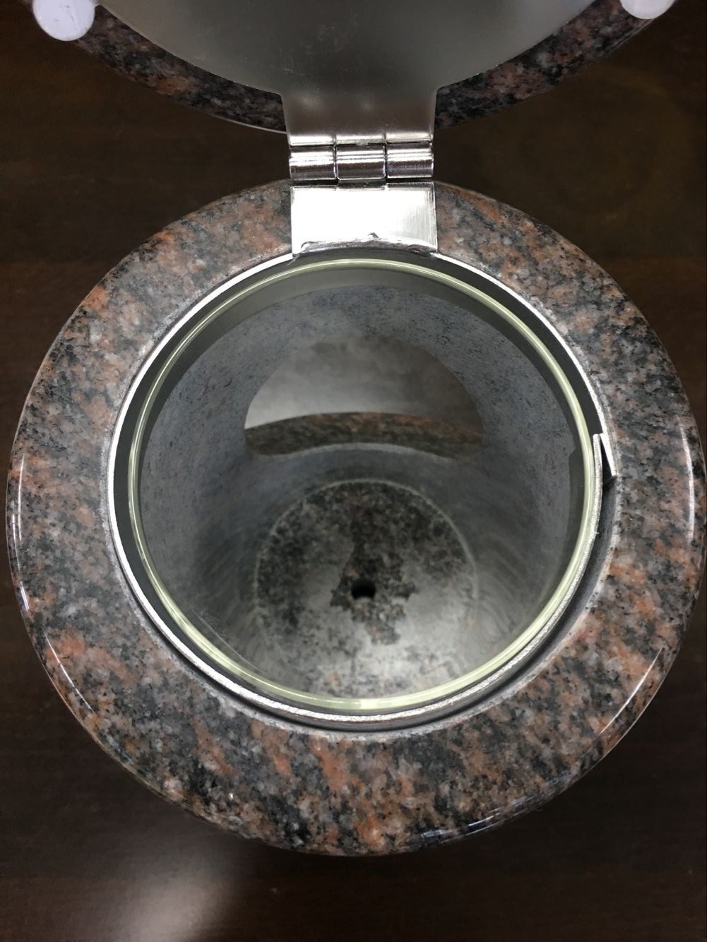 Funeral Products for Natural Granite, Marble, Onxy Memorial Lamp with Glass