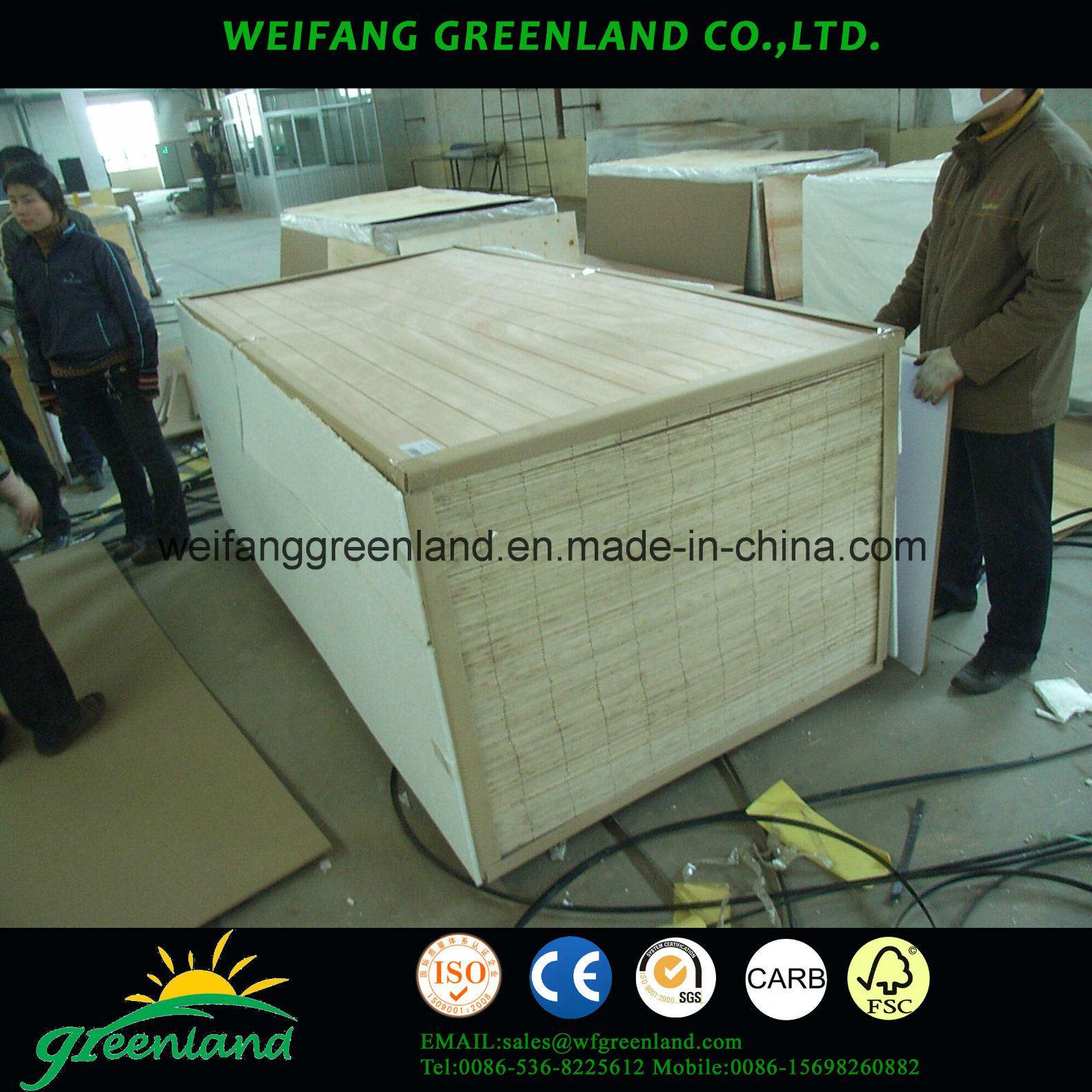 12mm Sloted Plywood, Hardwood Core, Phenolic Glue and Okume Film