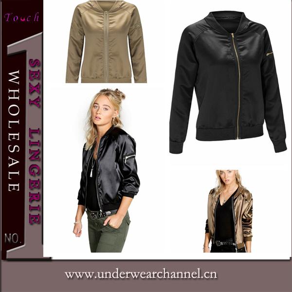 2016 New Design Fashion Women Sports Wear Bomber Jacket (TMK5340)