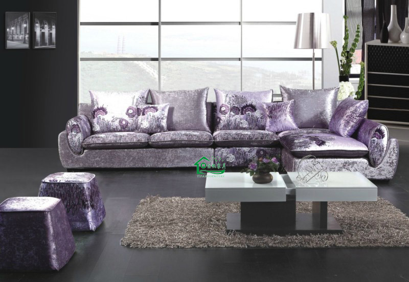 Sof de la tela muebles modernos de la sala de estar yf for Muebles modernos estilo europeo