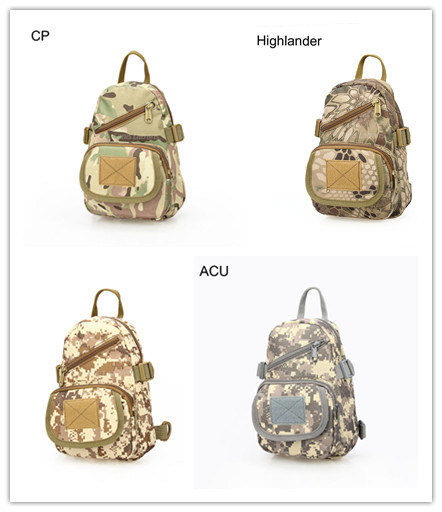 Military Hikingtactical Single Shoulder Bag Climbing Travel Backpack Waterproof Tactical Bag Camo Handbag Cl5-0060