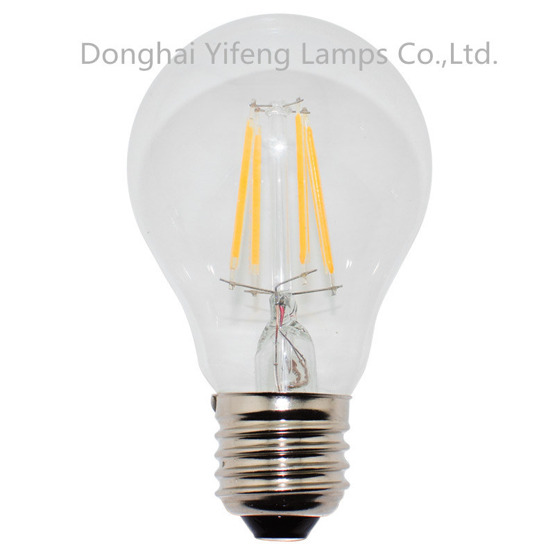 A60 LED Filament 2W, 4W, 6W Bulb with CE Approved