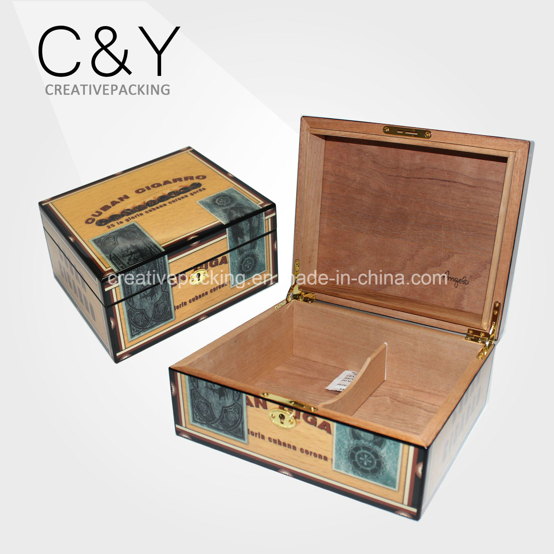 Custom Matte Lacquer Spanish Cedar Wood Cigar Humidor