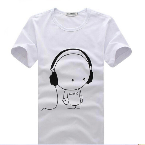 Custom Promotional White Printed T-Shirt Factory /Men`S T-Shirt