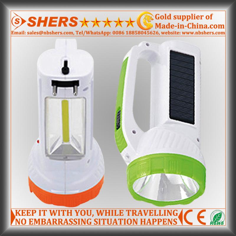 Solar 1W LED Torch with COB LED Desk Light (SH-1984)