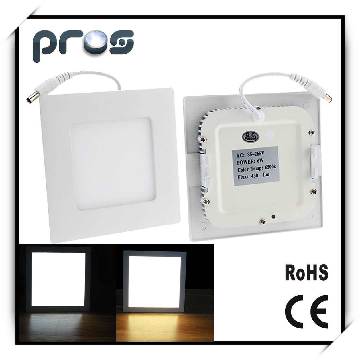 12W Recessed LED Light Panel, Ultraslim LED Panel Light