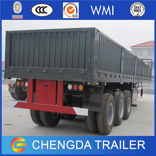 3 Axle 60 Ton Drop Side Cargo Semi Trailers for Sale