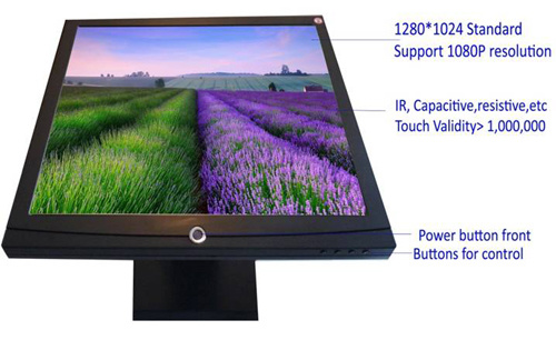 """19"""" 1906m Touch Screen Monitor for Restaurant / ATM / POS"""