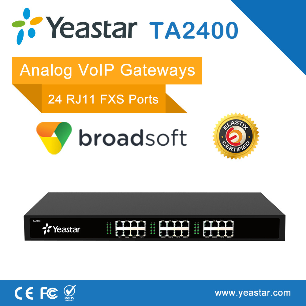Pabx Analog Phone Fax Machine with 24 Rj11 FXS Port Analog VoIP FXS Gateway ATA Gateway