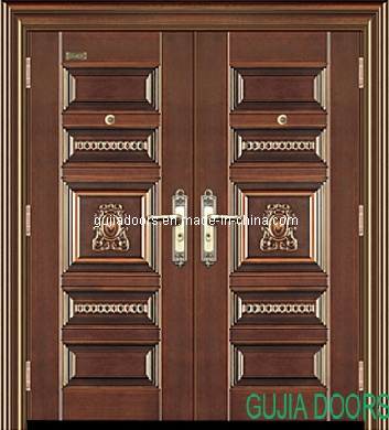 double leaf copper steel door entrance door security door gj a130 jpg