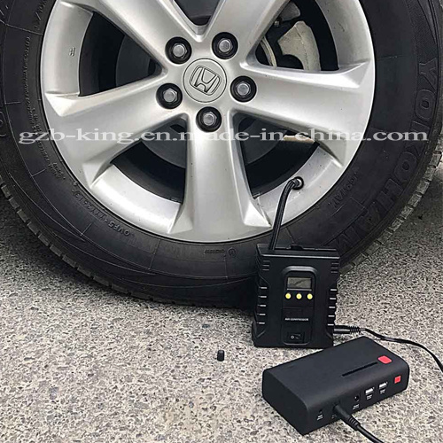 Portable Digital Tire Inflator - DC 12V Car Electric Air Compressor Pump with Light