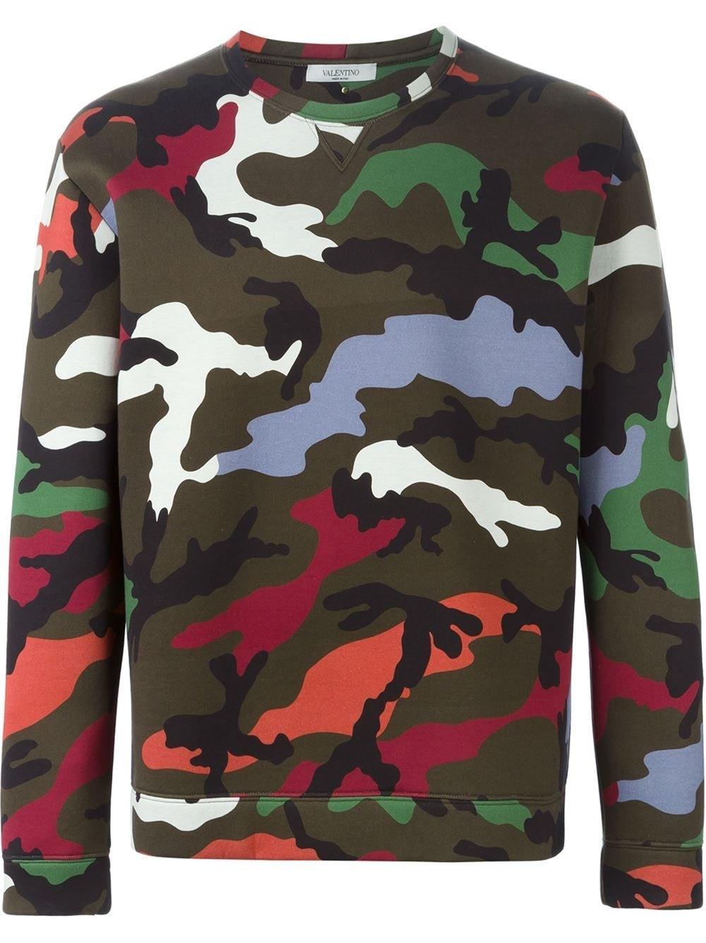 Men Fashion Camouflage Digital Print Sweatshirt Sportswear Top Clothing