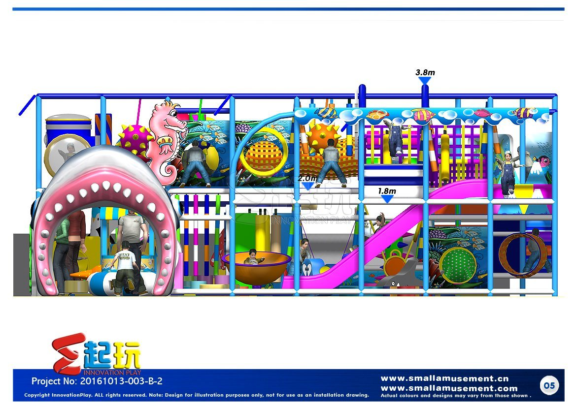 Attractive Indoor Playground with Free Design
