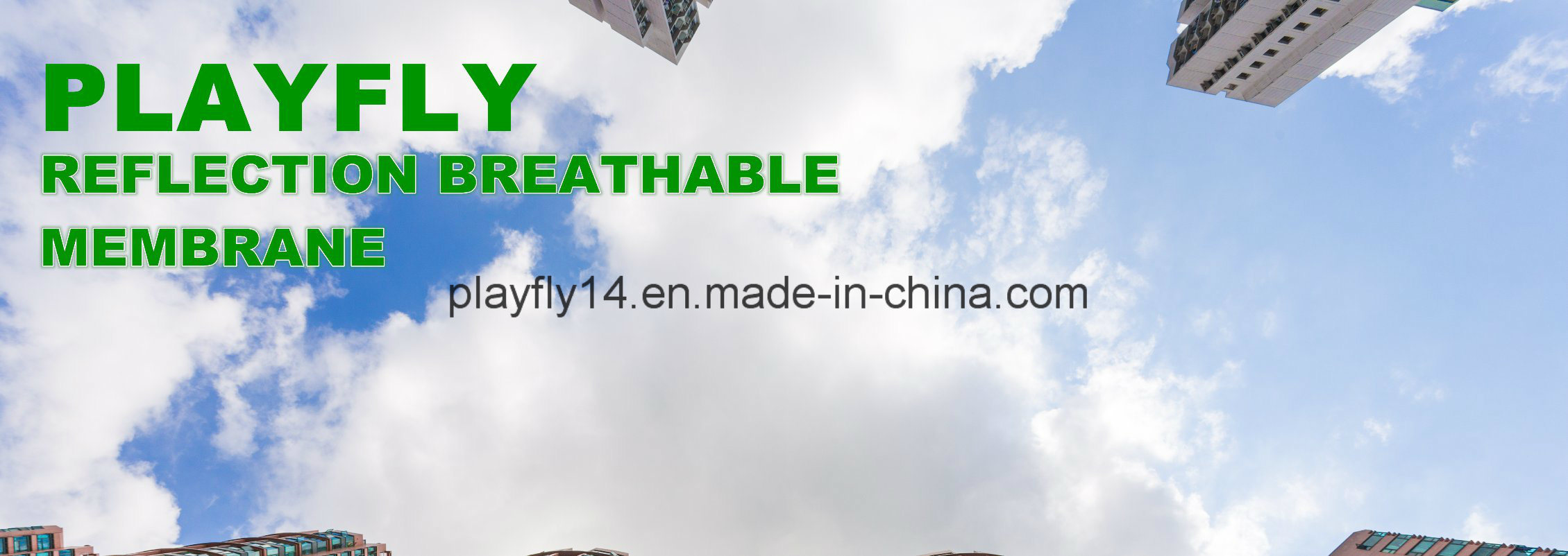 Playfly Reflection Breathable Waterproof Membrane with Different Density (F-100)