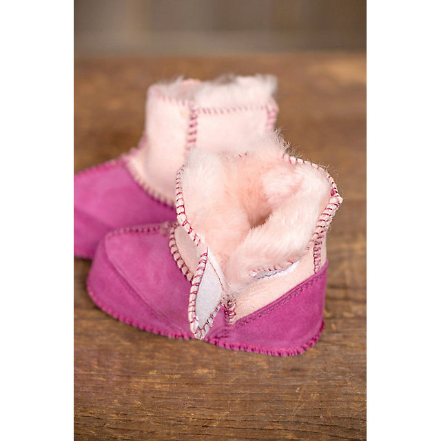 2-Tone Australia Merino Sheepskin Booties Baby Slipper Booties