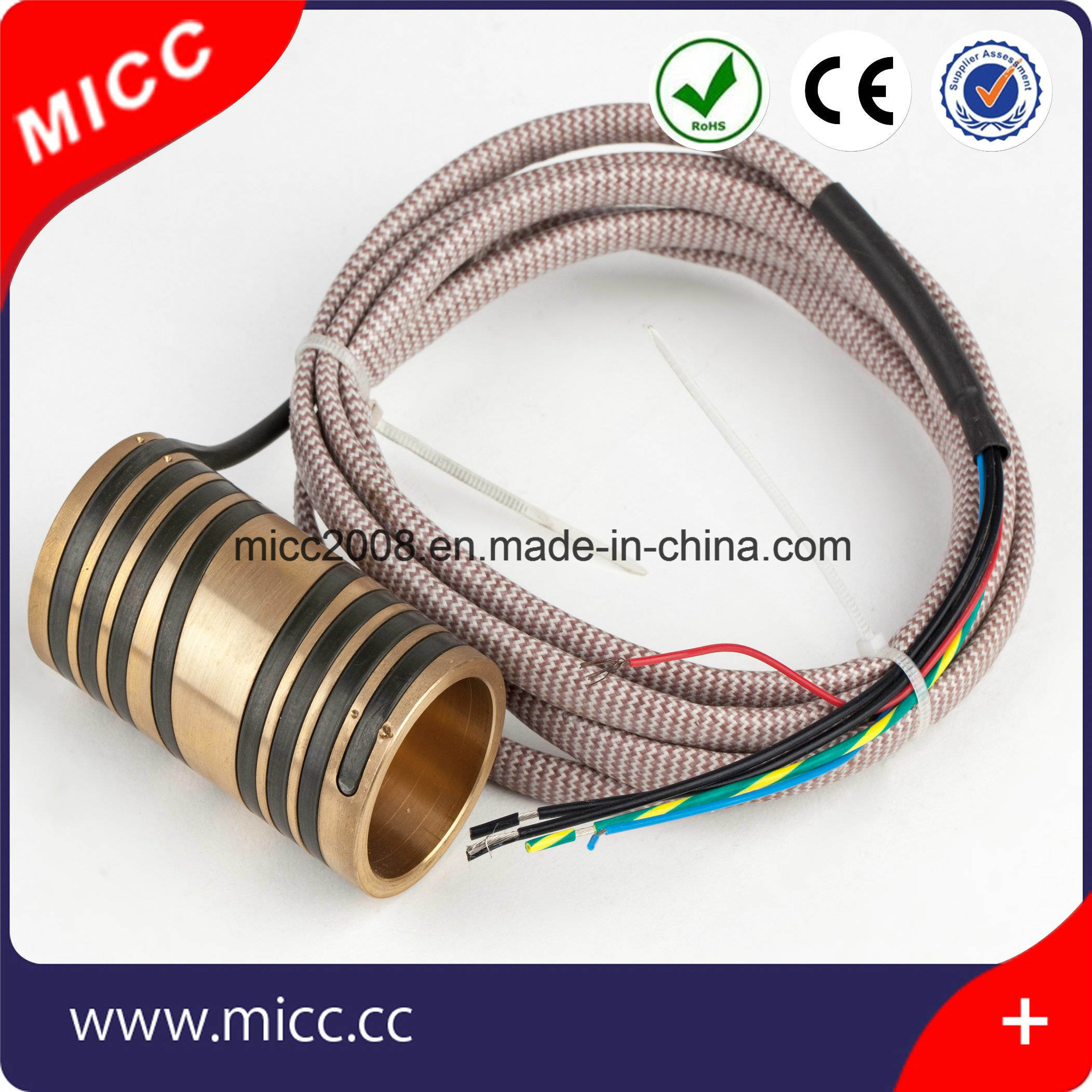 Micc Hot Runner Brass Pipe Heater Nozzle Coil Heater