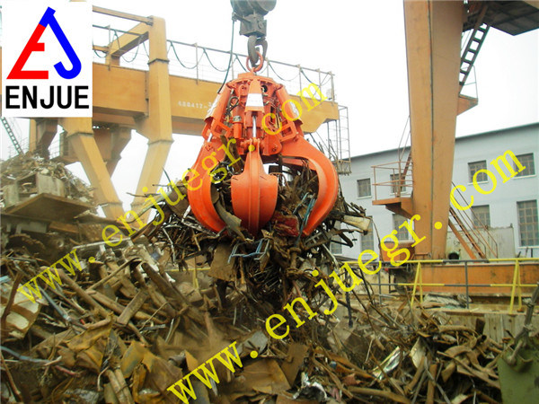 Power Station Orange Peel Garbage Grab Scrap Grab Bucket Used in Power Plant
