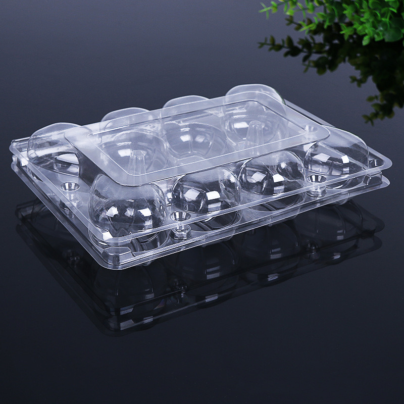 disposable clear clamshell food packaging supermarket vegetable/fruit/heat tray