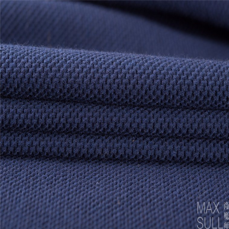 Good Elasticity and Thick Wool and Nylon Fabrics in Navy Blue